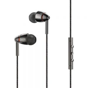 1More E1010In-Ear Earphones Headphones Earbuds Headset with Mic Wire Control - Grey