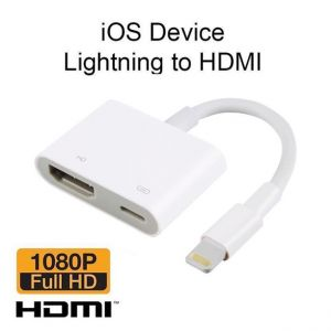 2 in 1 Lightning to HDMI Adapter OTG Adapter with Charging Port for iPhone iPad