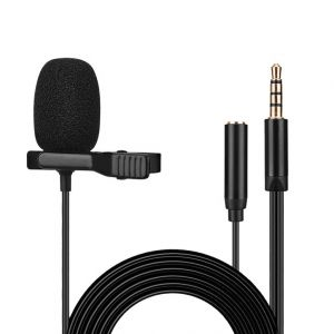 3.5mm Clip-on Microphone for iPhone/iPad/Mac/Android Phone