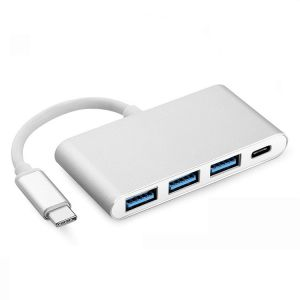 4 in 1 USB Hub OTG Adapter with USB 3.0 + 2 USB 2.0 + USB-C PD for MacBook