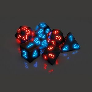 7Pcs/Set Polyhedral Dices Luminous Electronic Dice Board Game Accessories