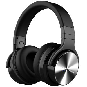 COWIN E7 Pro Active Noise Canceling Headphone Bluetooth 4.0 Headset with Mic - Black