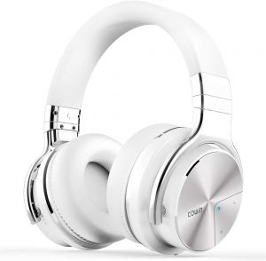 COWIN E7 Pro Active Noise Canceling Headphone Bluetooth 4.0 Headset with Mic - White