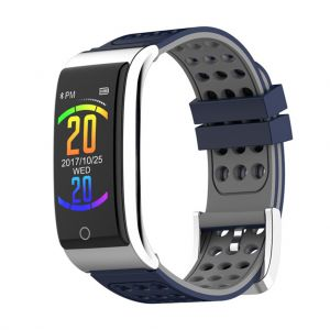 E08 Metal Smart Wristband Watch Bracelet Fitness Tracker Heart Rate Blood Pressure Monitor 0.96 Inches IP67
