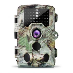 H881 Full HD 1080P Trail Camera with 46 LEDs Night Vision - Camouflage Color