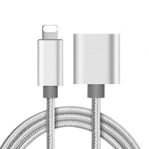 Lightning Port Extension Cable Male to Female Extender for iPhone iPad iPod