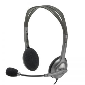 Logitech H110 3.5mm Dual Plug Stereo Headset with Rotating Microphone
