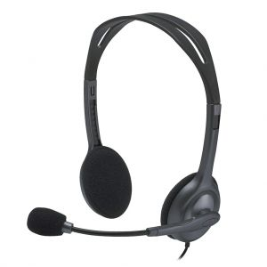 Logitech H111 Stereo Wired Headset with Noise-Cancelling Microphone 3.5 mm Audio Jack