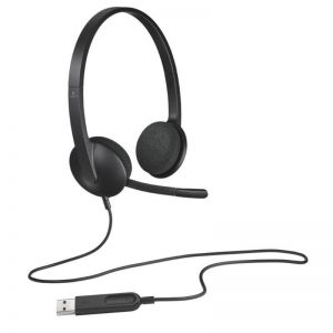 Logitech H340 USB Wired Computer Headset with Digital Audio