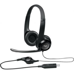 Logitech H390 USB Wired Headphone with Noise Canceling Mic & In-line Control