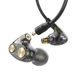 N35 In-Ear Wired Earbuds with Triple Speaker Units and Noise Reduction