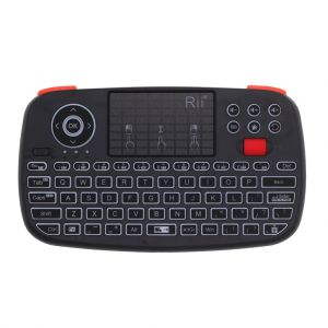 Rii i4 Bluetooth and 2.4Ghz Dual Mode Wireless Keyboard Air Moue with Touchpad