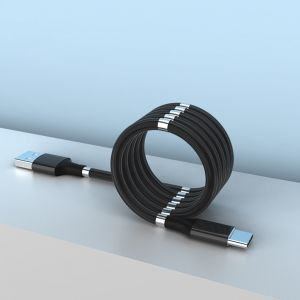 USB-C Magnetic Absorption Fast Charging Data Cable for Xiaomi / Samsung / Huawei