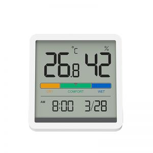 Xiaomi Youpin Miiiw Mute Temperature Humidity Clock with 3.34-inch Large LCD Screen